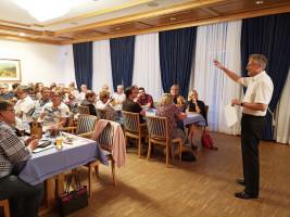 Hans Schreiner auf SPD Versammlung
